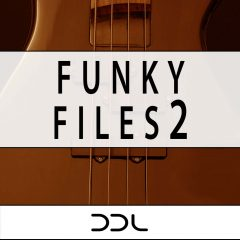 Funky Files 2 <br><br>&#8211; 20 Beat Loops, 10 Themes (Bass, Chords, Melody), 36 MIDI Files, 233 MB, 24 Bit Wavs.