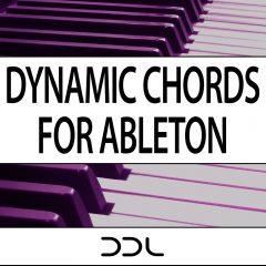 Dynamic Chords For Ableton <br><br>– (Live Suite 9+10) 52 Dynamic Chord modules, 3 Chord Progression Modules, 52 Chord Modules, 189 MB.