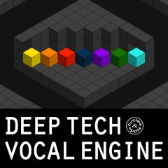 Deep Tech Vocal Engine <br><br>– 1 NI Kontakt Instrument (Full Version 5.6.6 and higher), 350 Vocals (4 Banks / Characteristics), Sound Manipulation Knobs (Tune, Speed, Envelope Order, Formant Shift), 4 Adjustable Effects (Reverb, Chorus, Delay, Stereo Widener), Start Point Selection For Each Vocal Seperately, Random Button, 200 MB.